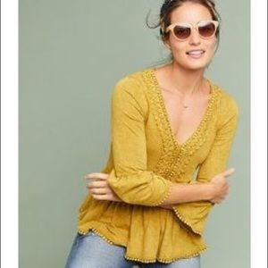 Anthropologie Eri + Ali Fredonia Bell-Sleeve Top